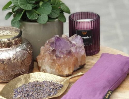 Nu binnen! Yozenga Oogkussentjes met Lavendel en Edelsteen